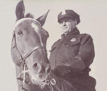 An officer and his mount in the early 1960s